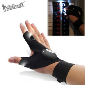Fingerless Glove With LED Light